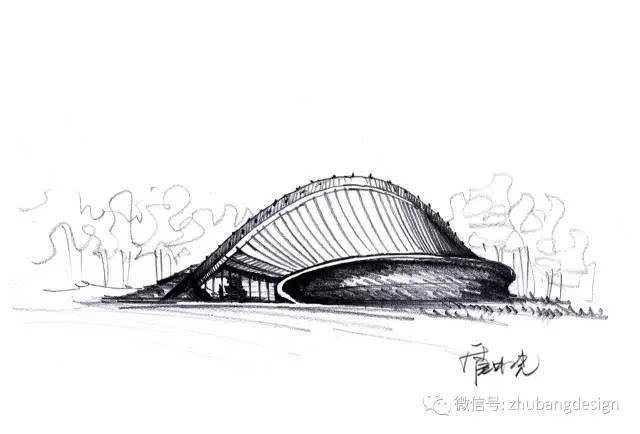 作者临摹程泰宁大师的手绘作品——浙江美术馆