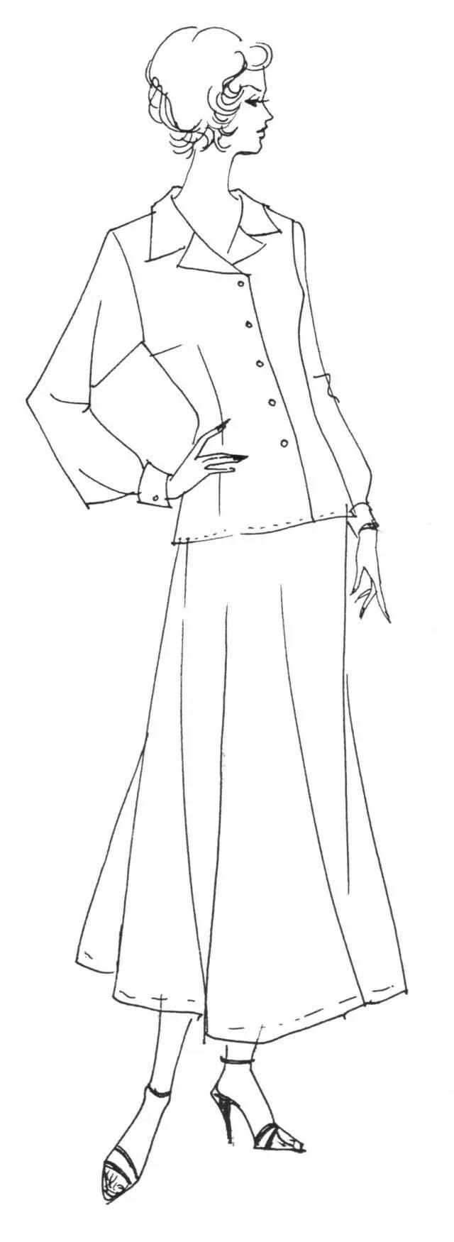 女袖子款式图手绘