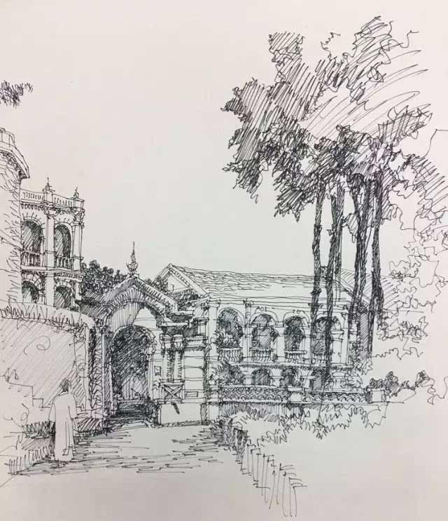 简笔画 手绘 素描 线稿 640_743