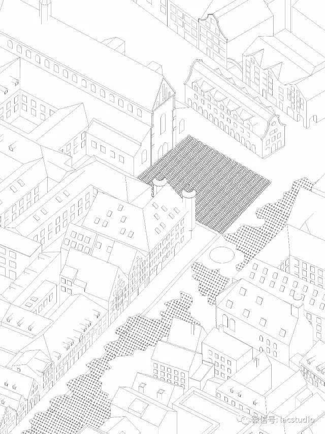 欧式广场铺地平面图