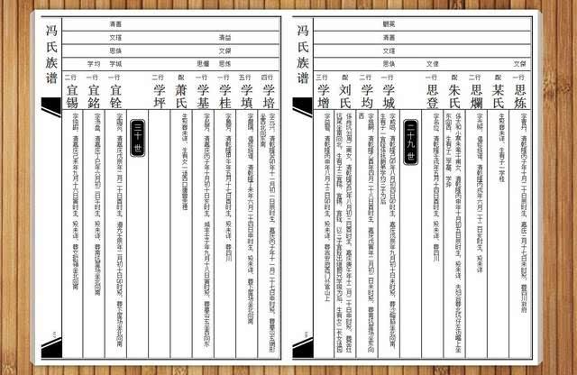 湖南族谱的谱式图片