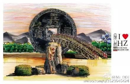 谁手绘的会泽城市名片,美爆了!