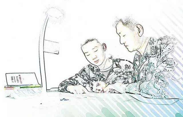 和军训有关的手绘图片