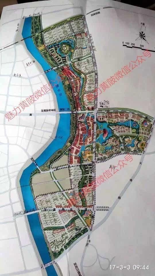 小镇规划手绘地图