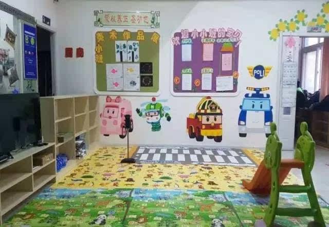 在幼儿园内建立一个模拟交通安全教室,给幼儿园小朋友进行交通安全