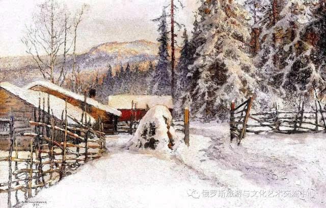 【艺术】俄罗斯画家笔下的雪景油画作品图片