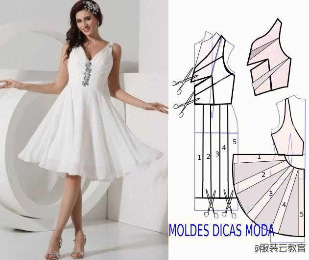 图纸集 | 30张连衣裙 大摆裙的裁剪图合集