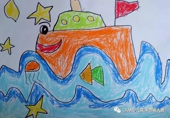 j775504087 梅梓轩 3岁 男 蜡笔画 《欢乐的动物园》 指导老师:刘光