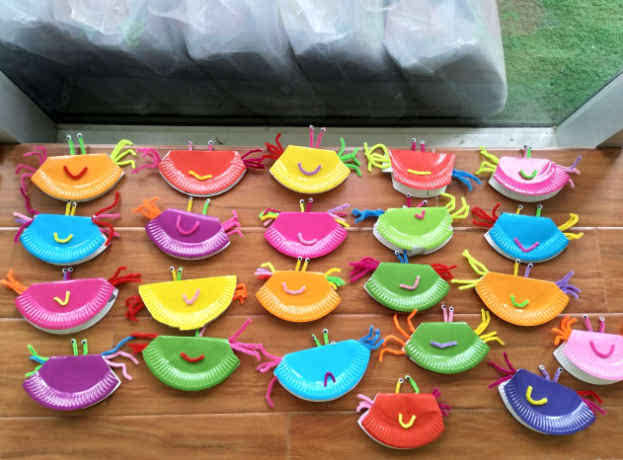 文合国际幼儿园创意手工坊——纸盘螃蟹(附做法)