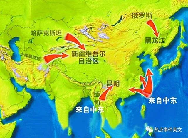 中缅石油运输管线和通过马六甲海峡的石油主要都来自中东,而中东石油图片