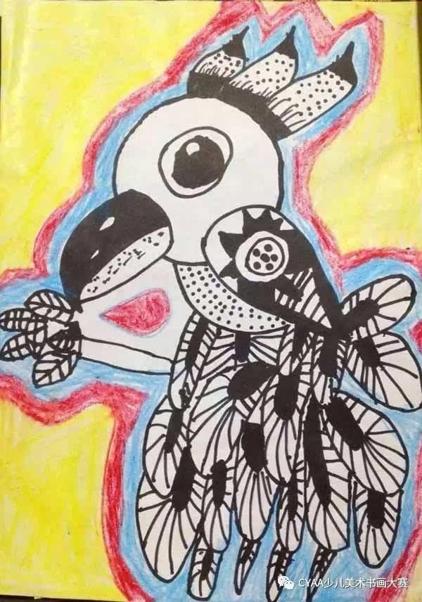 【cyaa微画展∣1060】莆田市彩虹绘画课堂梦想杯参赛作品展图片