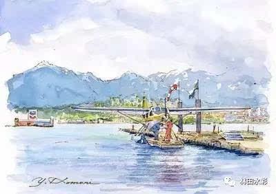 日本水彩画家 | 清新淡雅的钢笔淡彩