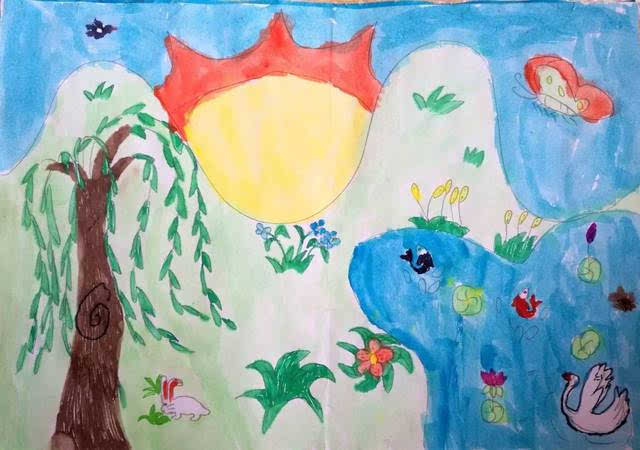 儿童画 640_450图片