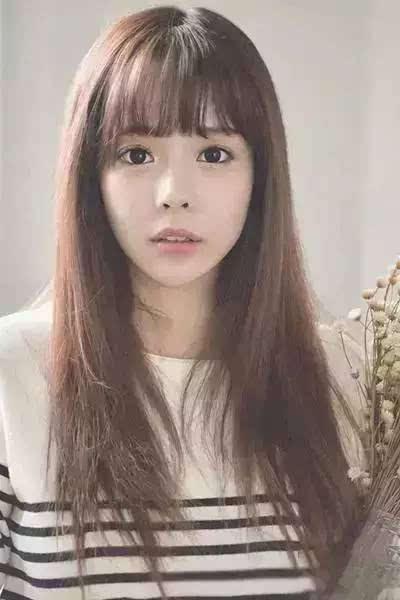 韩式刘海那么多款,也要配上对的脸型才更好看!图片
