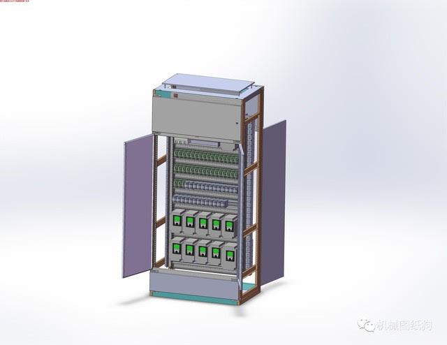 【工程机械】电控柜三维建模图纸 solidworks设计