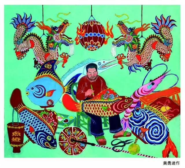 """【展览】暑假来了,带孩子去看""""渔海风情——玉环渔民画作品展""""吧图片"""