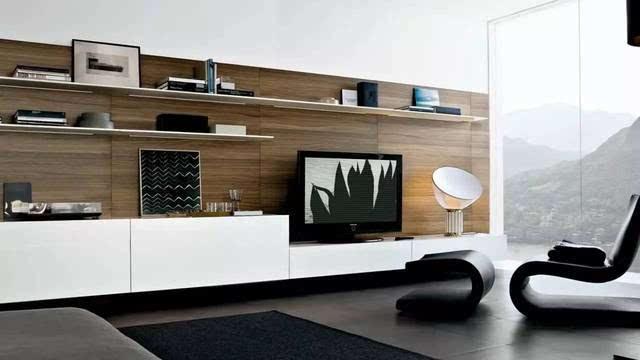 12款客厅设计装修效果图,简约时尚,电视背景墙个性,创意范十足