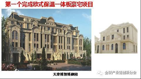 六,华德隆保温装饰复合板第一个实现了在装配式建筑应用中的欧式风格