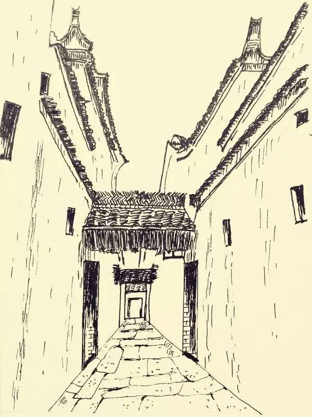钢笔画双牌,带你领略古建筑的历史沧桑