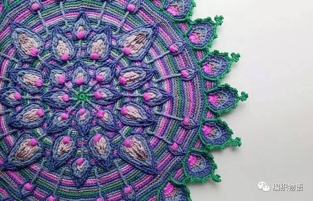 情迷曼陀罗钩针地毯系列欣赏
