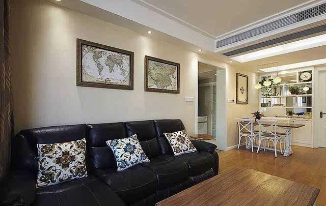 户型: 二居 风格: 欧式 面积: 90 m2 >现代简欧装修样板间,90平米的