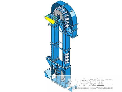 图1 斗式提升机结构示意图 目前国内常用的斗提机均为垂直式,符合图片