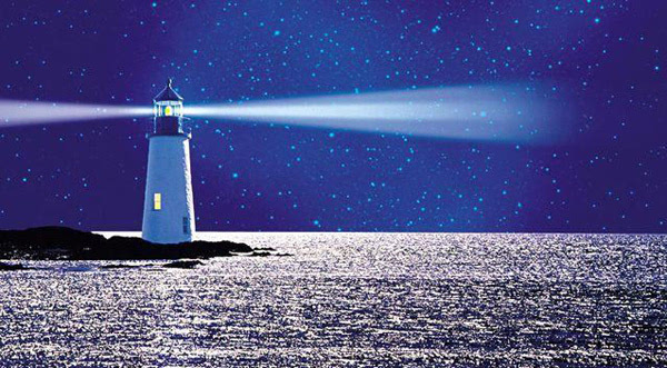 榜样如灯塔, 为黑夜中前行的船只引领航线; 榜样如甘泉, 为沙漠里