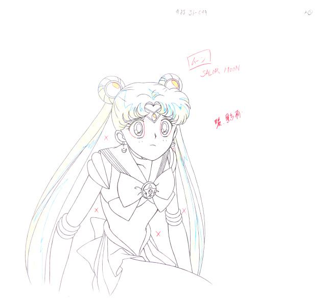 小小兔 美少女战士 1(线稿) 《美少女战士》水冰月全身绘附背景,设计