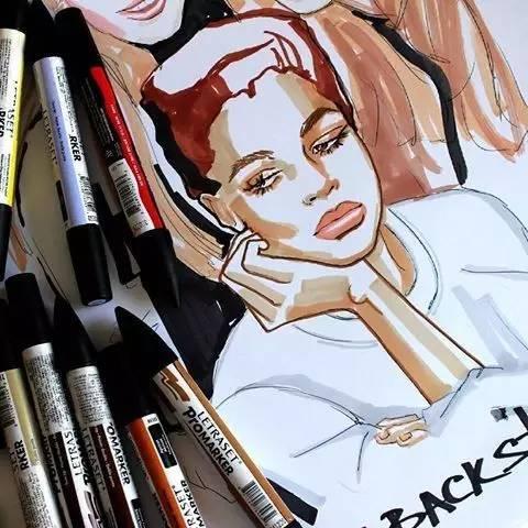 有时用手绘马克笔的方式记录自己最真实的心情 哪些值得自己去画的