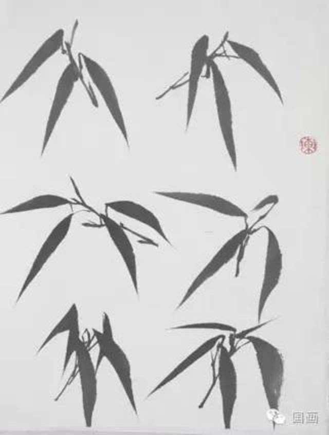 写意花鸟画教程竹子的画法