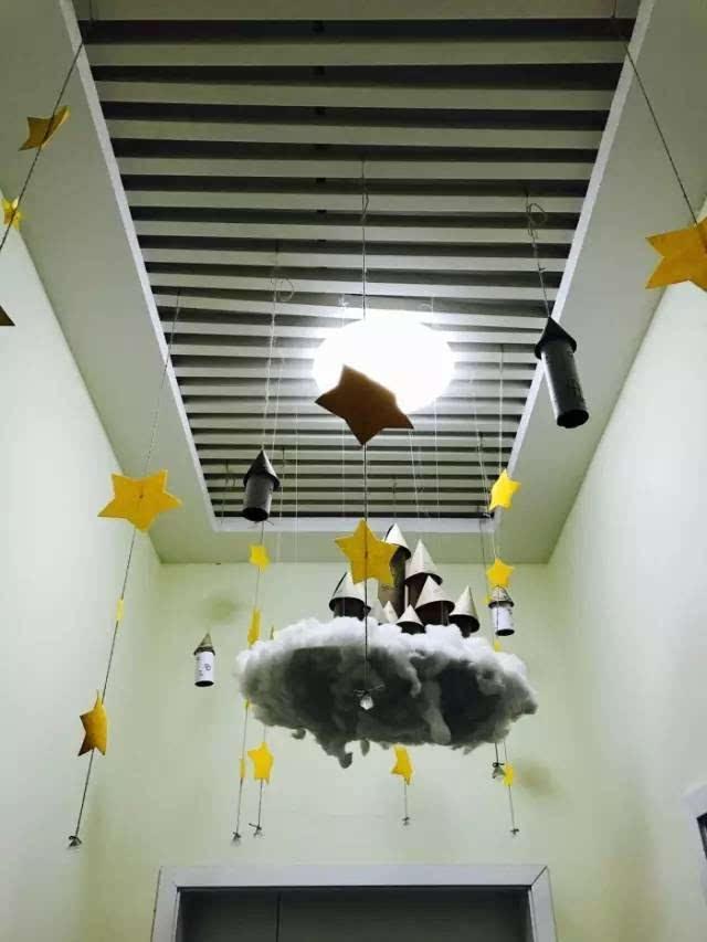 幼儿园清新手工环创吊饰,太美了!图片