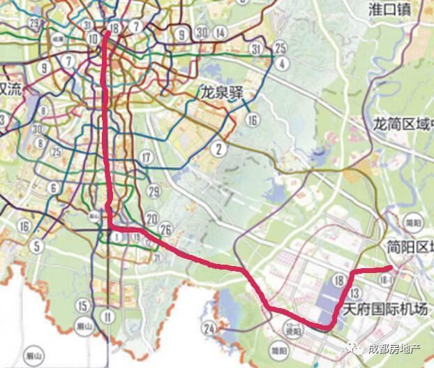 轨道18号线串联中心城区,天府新区,空港新城,简阳市,连接天府国际机场