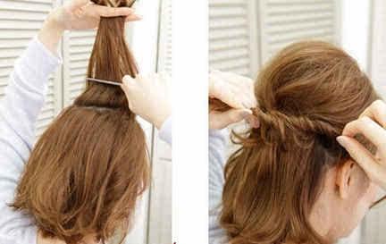 谁说短发不能百变扎发,手把手教你扎短发发型图片