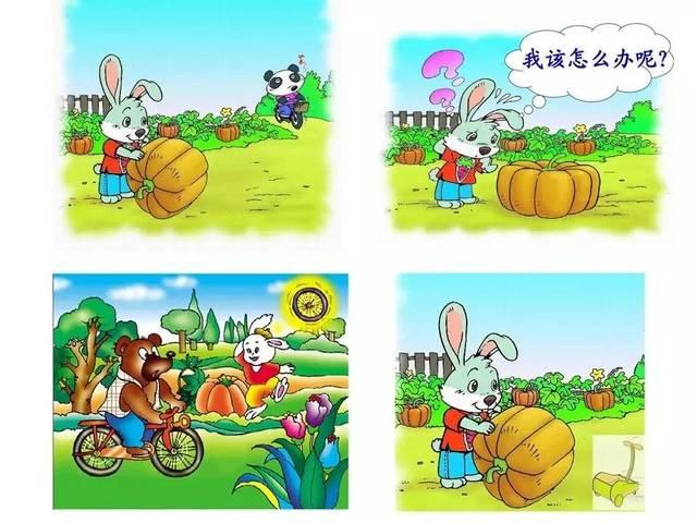 年级每日一文 小兔运南瓜