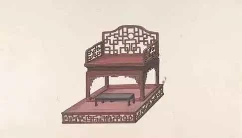 漂亮!清代手绘家具图