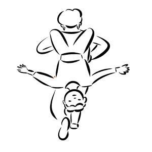 幼儿跑步简笔画