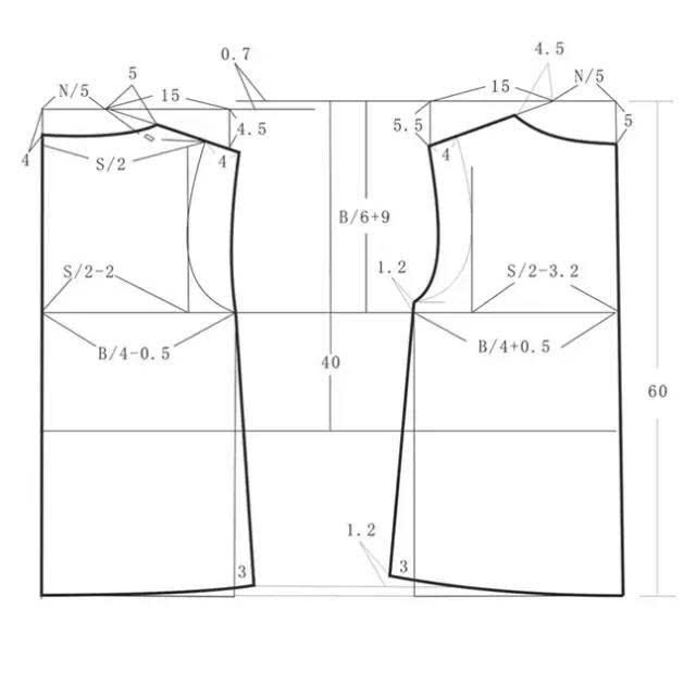 服装袖子平装袖设计图