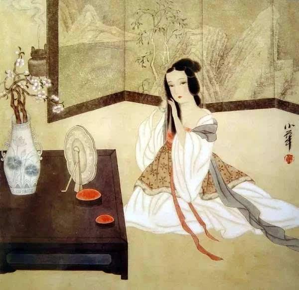 矢量图 古代人喝茶