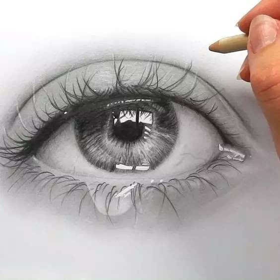 天啊噜~超逼真,超写实彩铅手绘眼睛,赶紧快快收下!