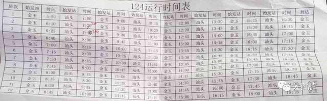 途经西胪的124,313公车调整定价!(附路线时间表)
