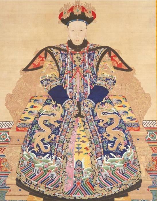 周冬雨竟然和清朝孝仪纯皇后画像长得一模一图片