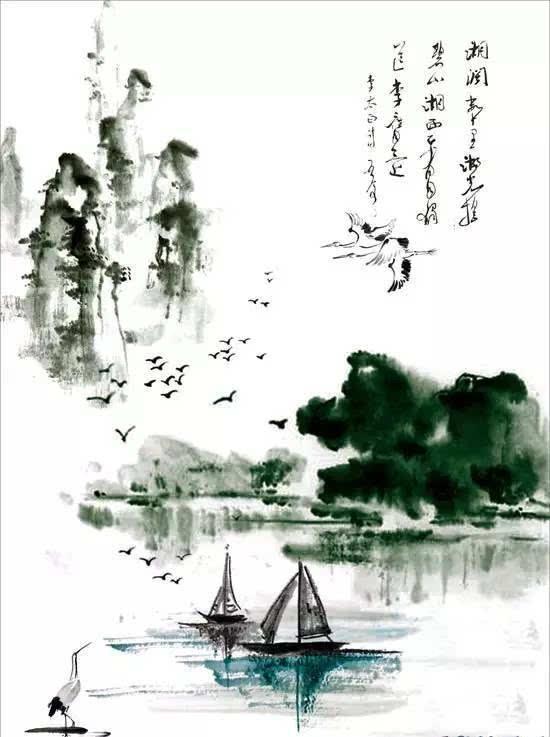 这股洪流思潮冲击到画坛,产生了一位划时代的名家,即首创泼墨山水的王维。王维,号摩诘,太原人,家世信佛。他所创作的诗和所画的画,被后人称之为诗中有画,画中有诗。他的画风体现在水墨渲染的画法和空寂的意境表现两个方面。在他的代表作《雪中芭蕉图》中,他描绘了大雪里的一株翠绿色的芭蕉。大雪是北方寒地才有的,而芭蕉又是南方热带的特有的植物,一棵芭蕉能在大雪里生存就足以说明他是用心在作画。在现实世界里,也许雪和芭蕉真是不能并存的,但是画里没有什么不可以的。也就是说精于绘事者,不以手画,而以心画。中国画在墨