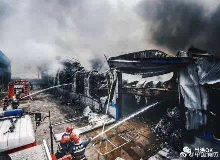 当涂年陡示范园区物流仓库发生火灾!冲在最前面的这群图片
