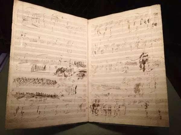 贝多芬的谱子,涂涂改改