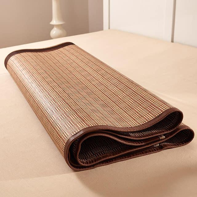 对折竹席折叠步骤图解
