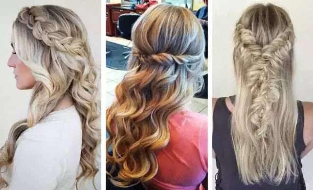 step1:将头发中分周,先从一侧拉出一束头发,头发不要太粗,否则编出来