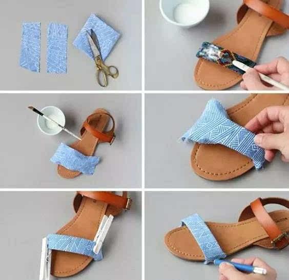 或是随便一折做成蝴蝶结,点缀在鞋子的系带上.