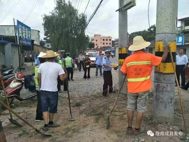 热点 全域无垃圾 成县县委机关党员干部率先行动
