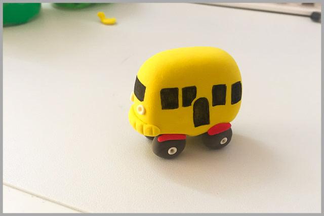 粘土小汽车作品教程图解