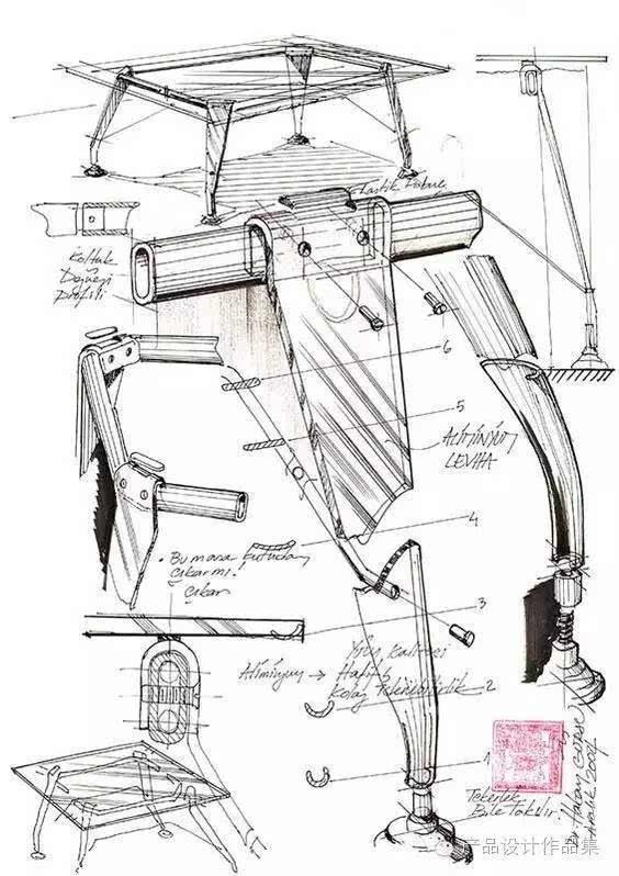 在产品设计初期,手绘设计是一个从无形到有形,将创意物化的的过程